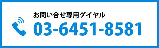 お問い合せ専用ダイヤル03-6451-8581
